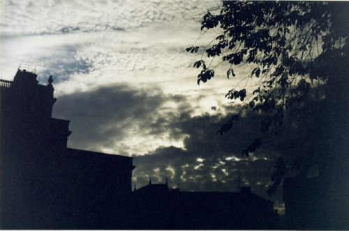 Céu do Norte. Fotografia sobre papel. Estocolmo 2000.