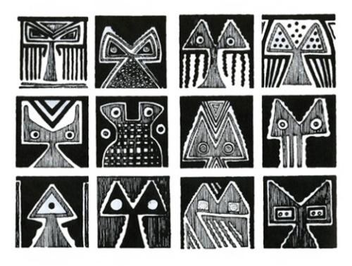 Pinturas sobre cerâmica. Chaco-Santiagueña, Argentina.