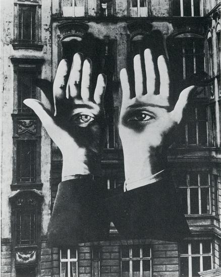 Einsamer GroBstädter, fotomontagem de Herbert Bayer, 1932.