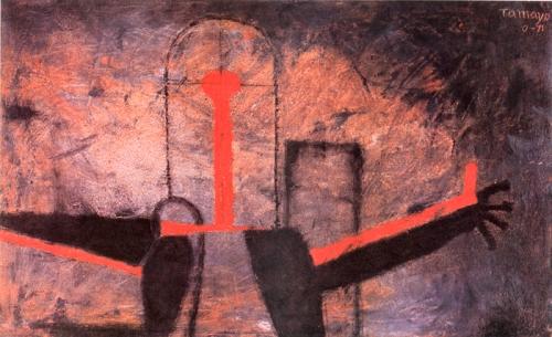 Rufino Tamayo. Figura en rojo y negro. 1971.